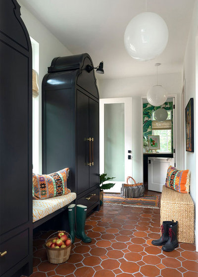 Eclectic Entry by Lucy Interior Design