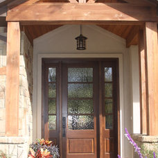 Farmhouse Entry by Atkins Design Group