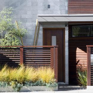 Contemporary entrance in San Francisco with a single front door.