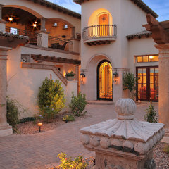 mediterranean entry by Integrity Luxury Homes