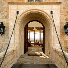 Mediterranean Entry by Tuggey Interior Design