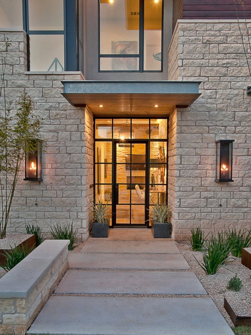Entrance canopy houzz for Modern front door lights