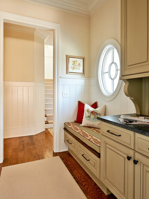 cool elegant mudroom photo in charlotte with beige walls with beige walls  white furniture. Beige Walls White Furniture  Interesting Beige Walls White