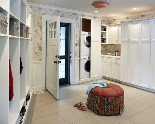 Hidden Washer Dryer Door Home Design Ideas, Pictures, Remodel and Decor