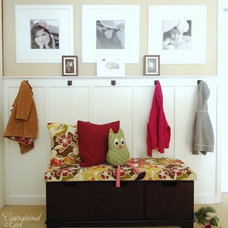 Contemporary Entry Centsational Girl Mudroom