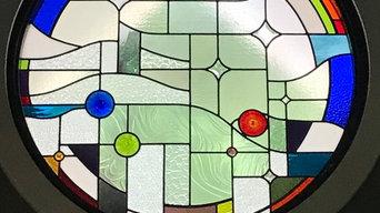 Chandelier entrance window