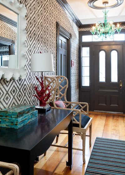 Eclectic Entry by Rachel Reider Interiors