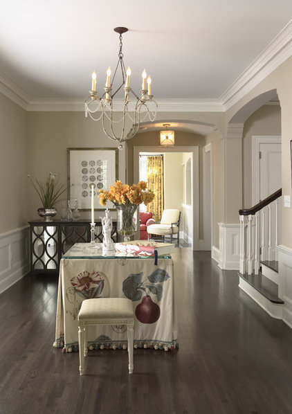 transitional entry by Lucy Interior Design