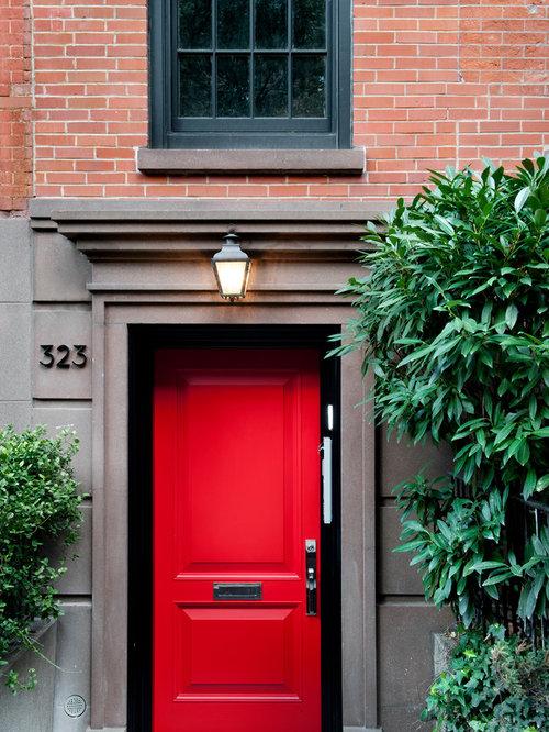 Front Door Red red front door   houzz