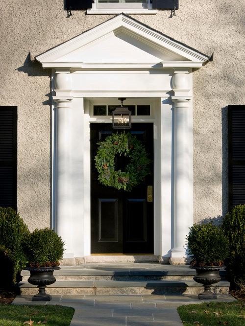 Door pediment houzz - Exterior door pediment and pilasters ...