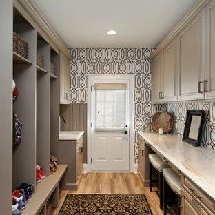 Chic Distressed White Kitchen - Barrington, IL
