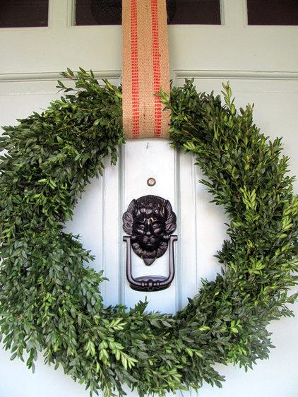 eclectic entry Christmas front door