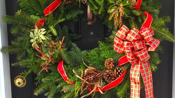 Christmas Wreath at Front Door