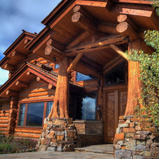 Rustic Entry by B&B Builders