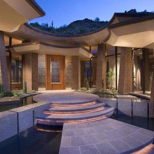 Moderner Eingang mit Einzeltür und Glastür in Phoenix