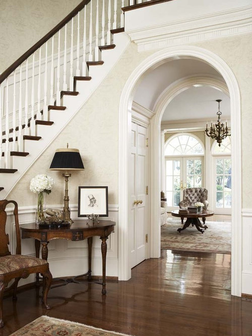Entry Foyer Houzz : Double staircase entry foyer houzz
