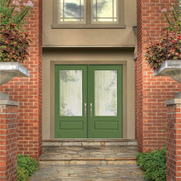 Classic-Craft Canvas doors painted Courtyard Green