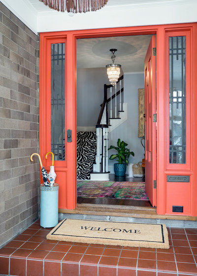 Eclectic Entry by Vujovich Design Build, Inc.