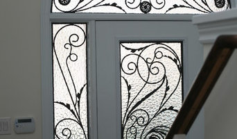 Classic style wrought iron door inserts