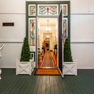 Photo of a traditional entryway in Brisbane with a single front door.