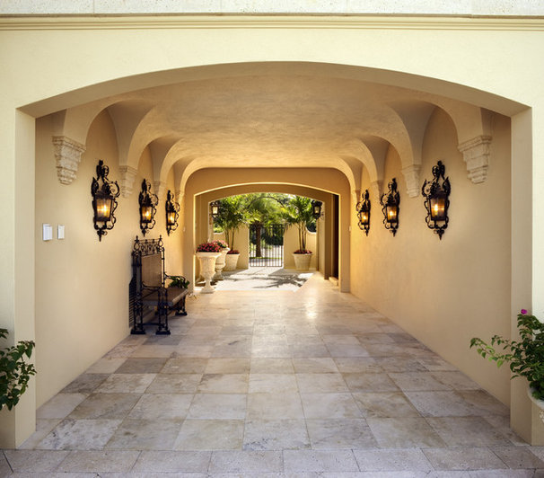 Mediterranean Entry by Clifford M. Scholz Architects Inc.
