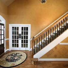 Contemporary Staircase by Crawford Builders