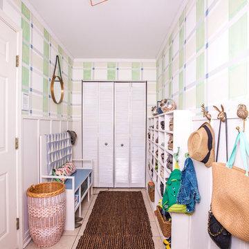 Coastal & Preppy Mud Room