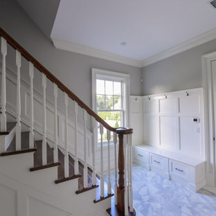 Colonial Home: Mudroom & Rear Stairs