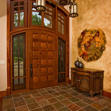 Rustic Entry by HELMAN SECHRIST Architecture