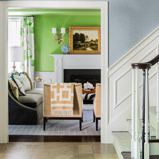 Transitional Entry by Hudson Interior Design