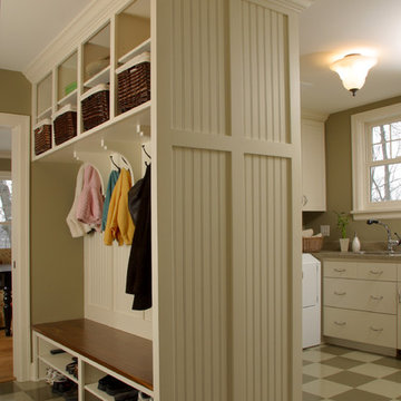 Combination Mudroom and Laundry Room