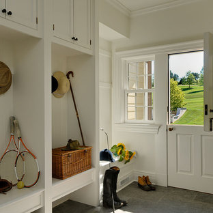 Inspiration for a timeless dutch front door remodel in New York