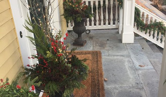 Containers with Holiday Greens and Winterberry
