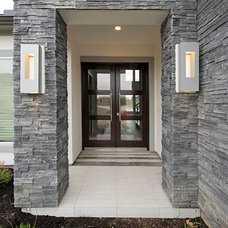 Contemporary Entry by Contour Interior Design, LLC