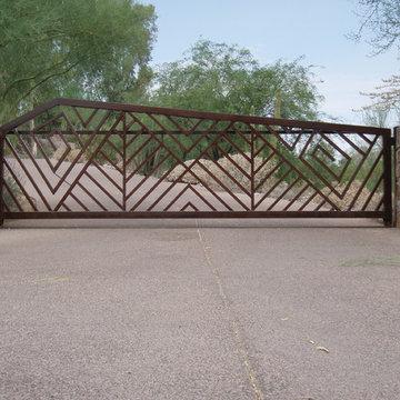 Contemporary Drive Gate
