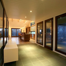 Contemporary Entry by John R Berg  AIA  LEED AP