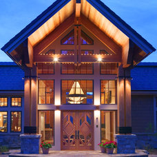 Rustic Entry Contemporary Exterior