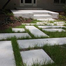 Contemporary Entry by Shady Grove Landscape Company