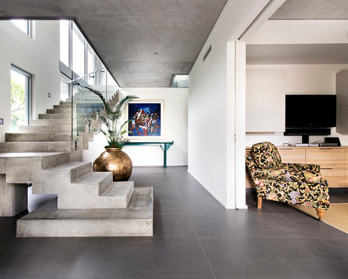 Concrete Stair Houzz