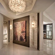 Contemporary Entry by Interiors by Steven G