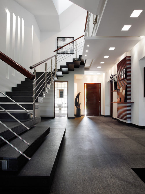 Modern entrance hall houzz for Modern entrance hall