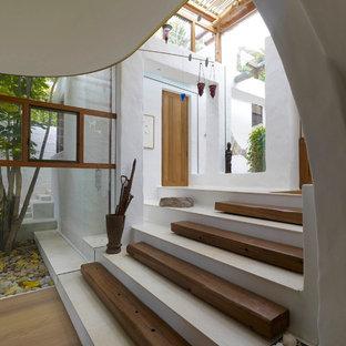 シドニーのトロピカルスタイルのおしゃれな玄関の写真