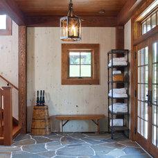 Farmhouse Entry by Rill Architects