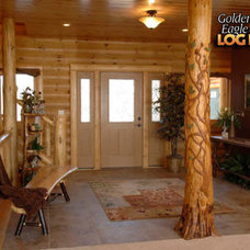 Rustic Entry by Golden Eagle Log Homes