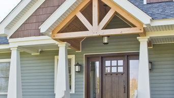 Craftsman Front Door in Quartersawn Oak