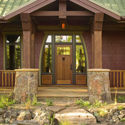 Craftsman Portico Entry Design Ideas Pictures Remodel And Decor