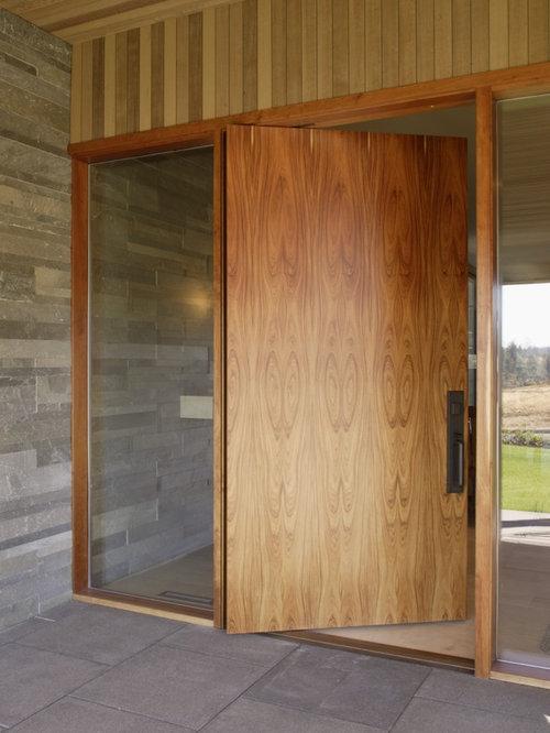 Wood pivot doors houzz for Pivot home designs