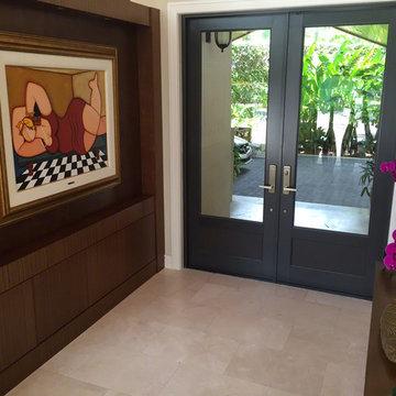 Crema Marfil Marble Entryway