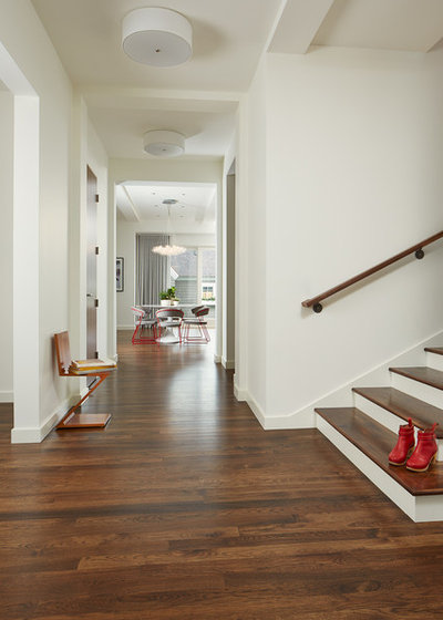 Contemporary Entry by Charlie & Co. Design, Ltd