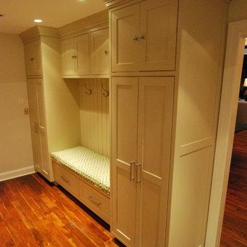 Custom Beige Mudroom Cabinetry 2